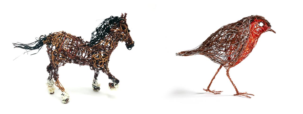 3Style 3D Printing Pen Print Sample Horse Robin Bird