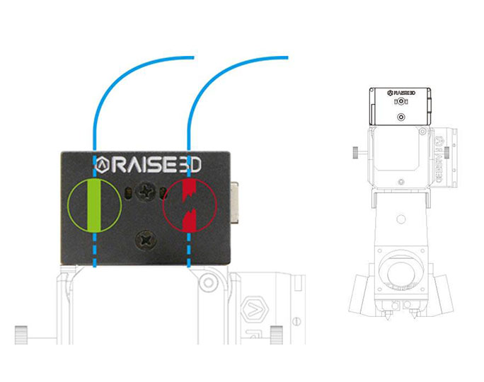 Raise3D Extruder with Filament Run-Out Sensor