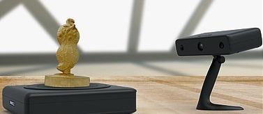 Scanner 3D scannant une cacahuète