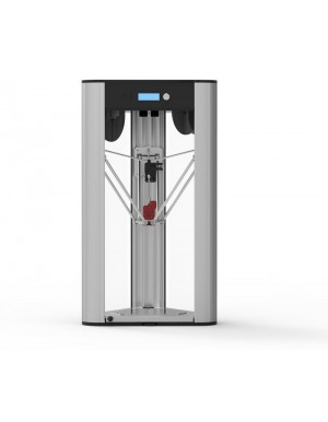 DeltaWASP 20 40 Turbo2 with Red Spitfire Extruder