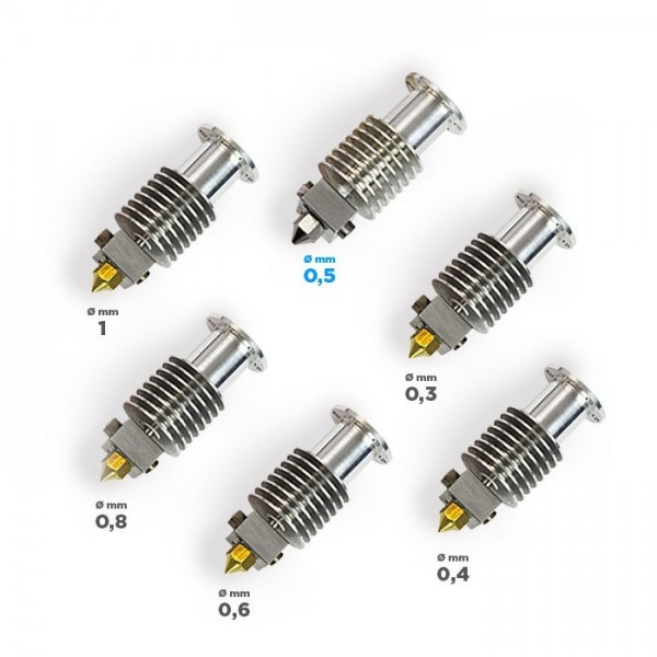 BCN Hotend Family (includes the whole range of BCNozzles)