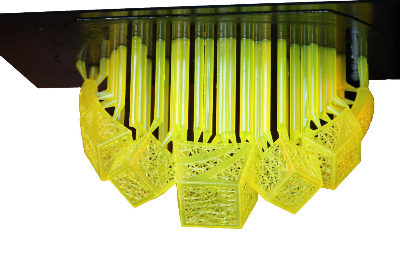 Bracelet printed with the B9 Core 3D printer and yellow resin