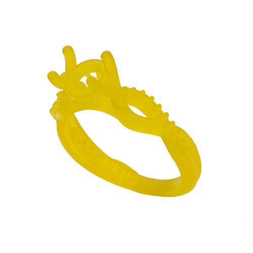 Ring printed with B9Creations Yellow castable resin
