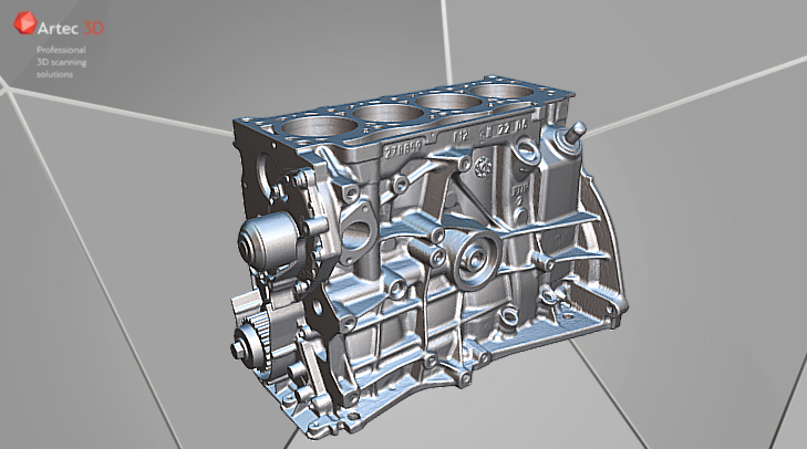Engine 3D model Artec Eva