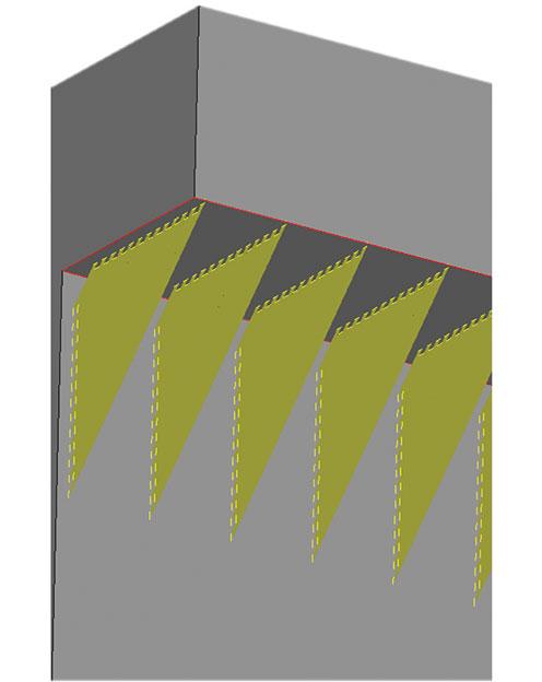 contour support structure
