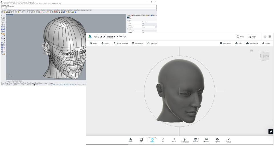 Quicksurface Free Form Export to CAD