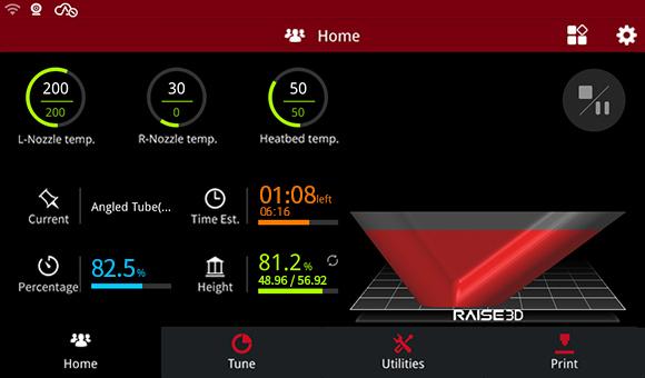 Raise3D E2 Large Touchscreen