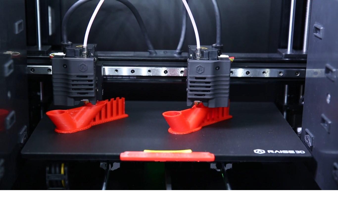 Raise3D 3D Printing Duplicate Mode