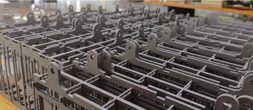 Frame parts printed in flam retardant
